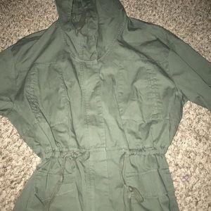 Gap Women's Military Utility Green Jacket Hoody
